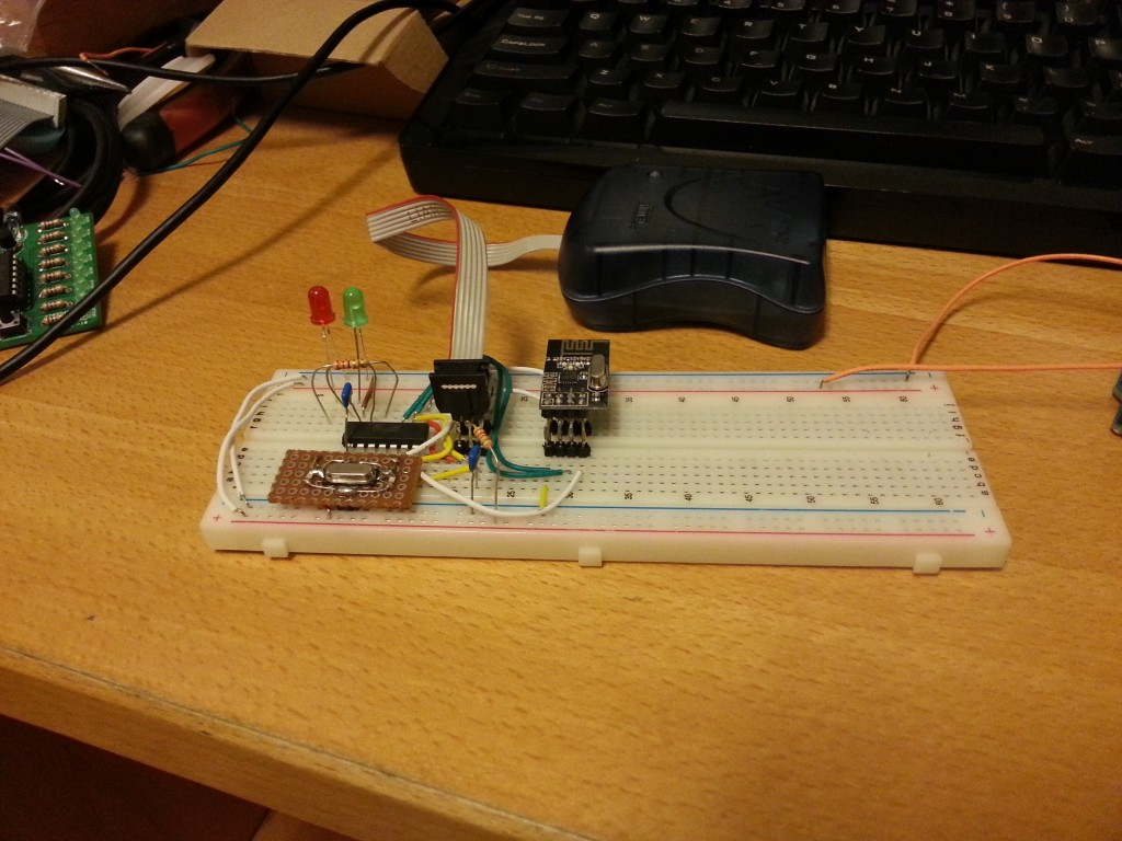 Partial prototype without the DHT22 sensor
