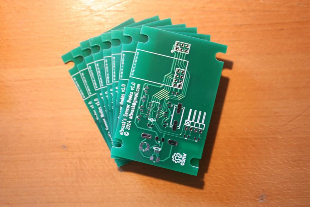 Sensor node PCBs