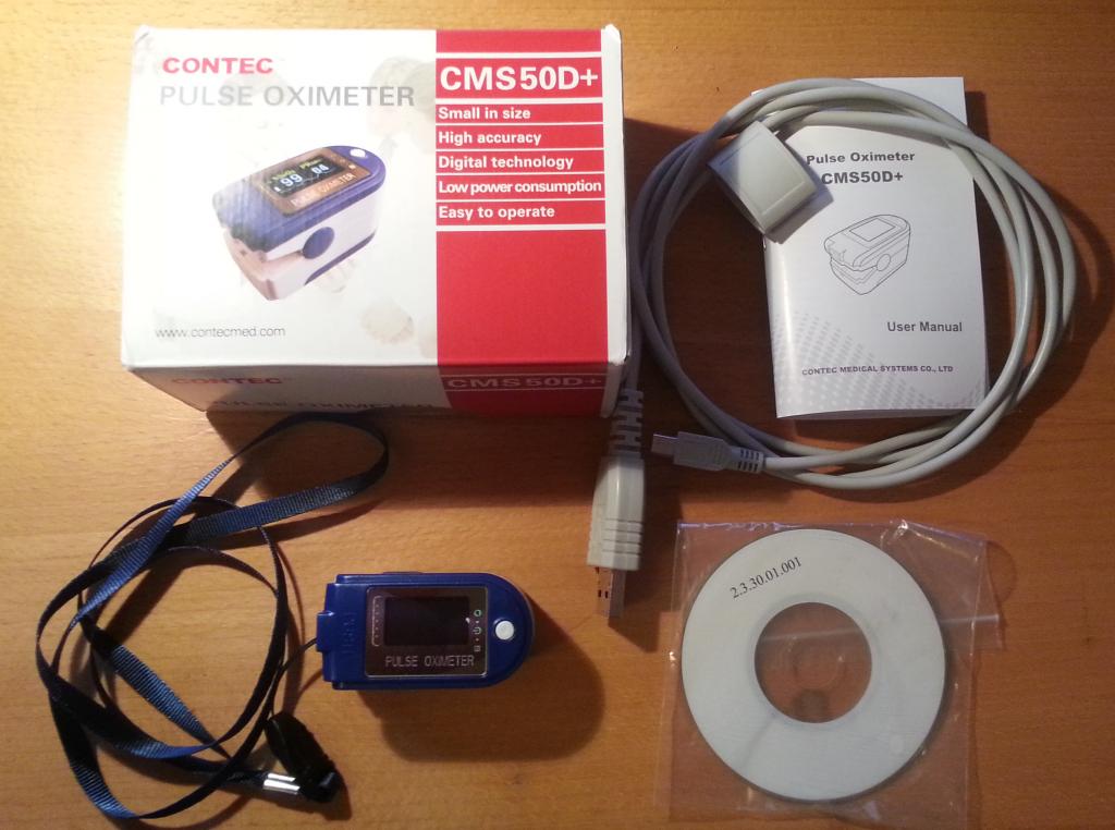 Contec CMS50D+ box content