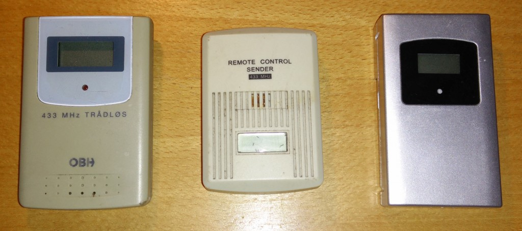 Three wireless thermometers